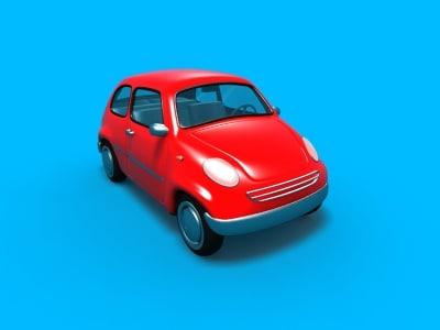 3d custom car fiat 500 model