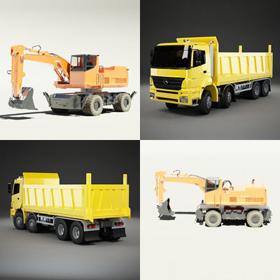 wheeled dump truck max