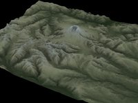 3d model of mnt st helens