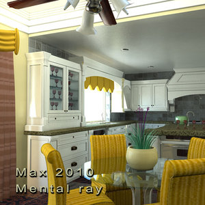 3d kitchen dining room