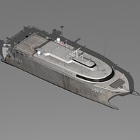 3d catamaran navy ship