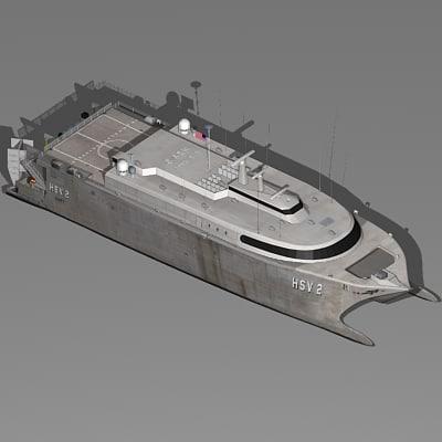 3d catamaran navy ship