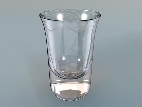 3d model 4oz shotglass
