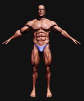 man human culturist 3d model