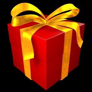 gift box presents 3d model