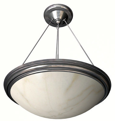alabaster hanging light 3d model