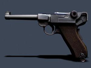luger 9mm 3d model