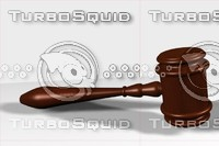 3d judge gavel model
