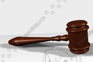 3d judge gavel model