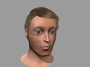 3d mans head model