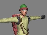 3d mountain climber model