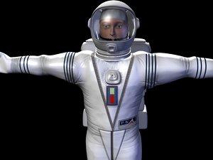 3d astronaut man model
