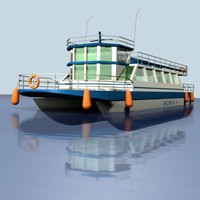 3d model motorboat travel fishing