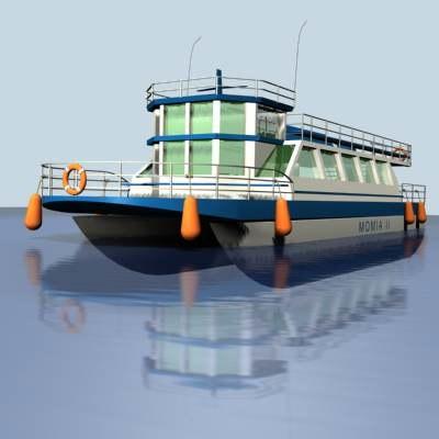 3d model motorboat travel fishing