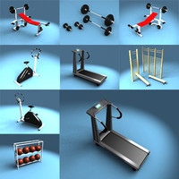 gym equipment 3d model