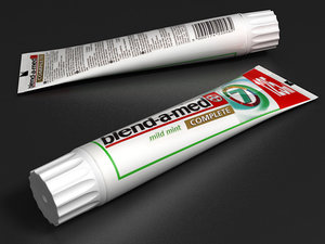 3d model toothpaste