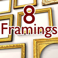 classical frames 3d model