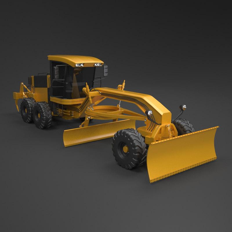 3d model motor grader