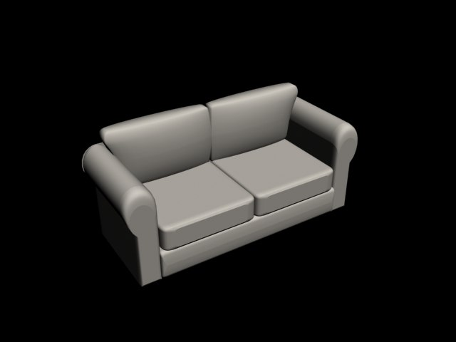 couch home office 3d model