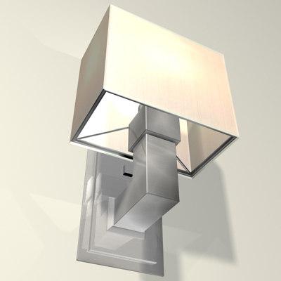 metropolis sconce lighting 3d model