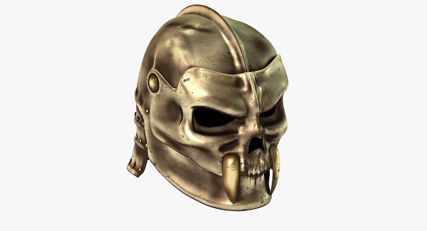 helmets metal 3d model