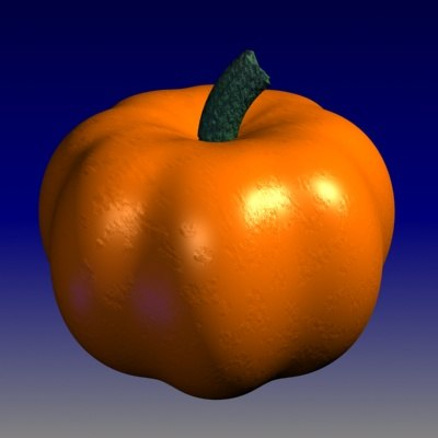 3d pumpkin vine