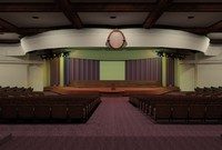 auditorium formal hall 3d model