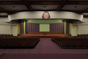 auditorium formal hall 3d model