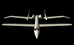 3d proteus aircraft model