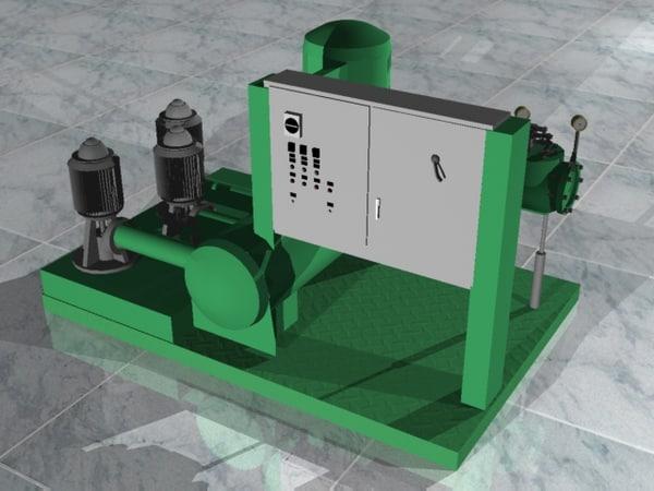 3dsmax irrigation pumpstation