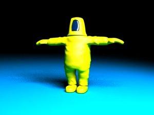 biosuit human 3d model