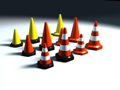 3d model traffic cones
