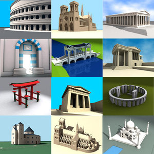3d historical building model