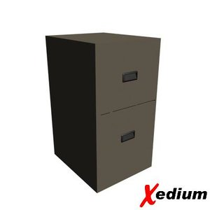 3d model filing cabinet drawer
