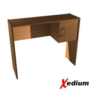 computer desk 3d 3ds