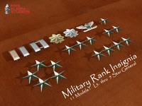 military rank insignia 3d max
