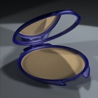3d cosmetics compact makeup model