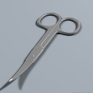 3d model cutical scissors