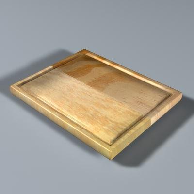 3d model wodden cutting board
