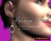 drop earrings victoria 3d pz3