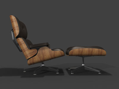 3d model eames lounge chair
