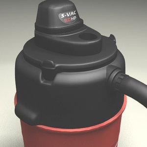 3d model shop vacuum