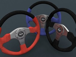 3d max momo champion steering wheel