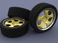 jedesign rim tire 3d model