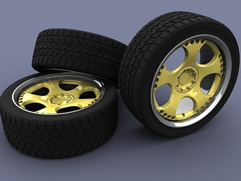 jedesign rim tire 3d model