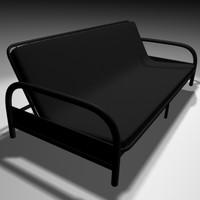 futon bed 3d model