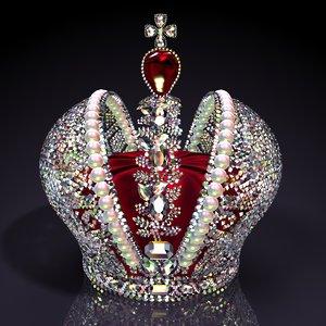 big imperial crown brilliants 3d model