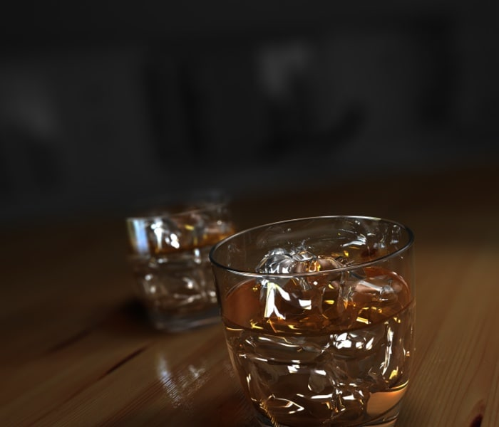 3d model whiskey whiskeyglas