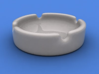 ashtray ash tray 3d 3ds