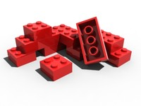 lego building blocks 3d model